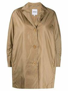 Aspesi plain single breasted coat - NEUTRALS