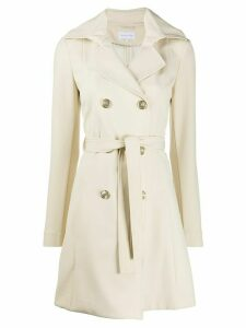 Patrizia Pepe double breasted coat - NEUTRALS