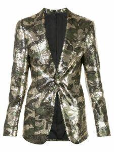 R13 sequined camouflage blazer - GOLD