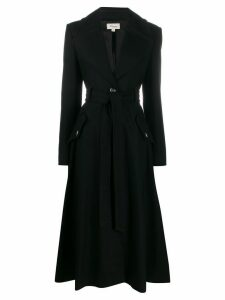 Temperley London fit and flare coat - Black