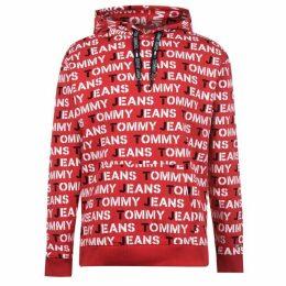 Tommy Jeans AOP Hoodie - Racing Red
