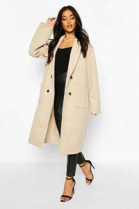 Womens Oversized Wide Sleeve Wool Look Coat - beige - 16, Beige