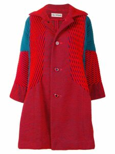 Issey Miyake Pre-Owned cut-pile coat - Red