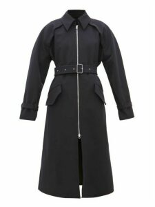Acne Studios - Octava Zip-up Gabardine Trench Coat - Womens - Navy