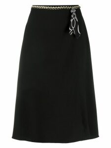 Elisabetta Franchi belt detail skirt - Black