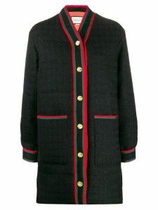 Gucci padded tweed coat - Black