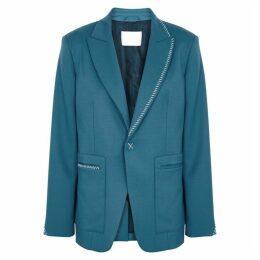 LOROD Blue Stretch-wool Blazer