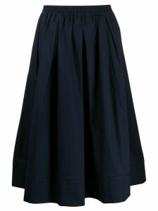 Fay pleated A-line skirt - Blue