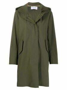 Harris Wharf London fishtale hooded parka coat - Green