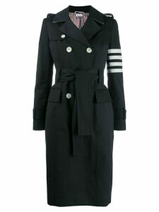 Thom Browne 4-bar classic trench - Blue