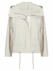 Lorena Antoniazzi short hooded parka jacket - Grey