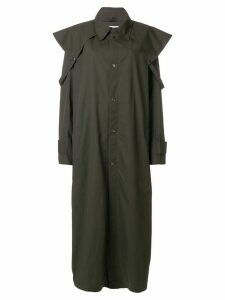Walk Of Shame long cape trench - Brown