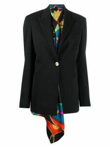 Versace layered blazer - Black