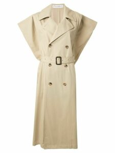 JW Anderson Kite sleeveless single-breasted trench coat - Brown