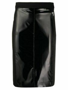 Love Moschino slim-fit patent skirt - Black