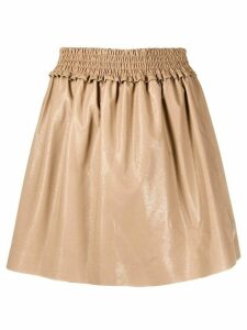 MSGM pleated flared skirt - NEUTRALS