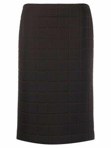 Bottega Veneta quilted straight skirt - Brown