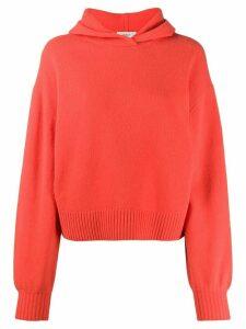 Pringle of Scotland relaxed hooded sweater - ORANGE