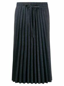 Red Valentino pleated denim skirt - Blue