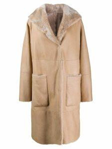 Manzoni 24 single-breasted coat - NEUTRALS