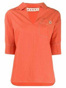 Marni chest pocket blouse - ORANGE