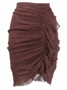 Masscob ruched fitted skirt - Brown