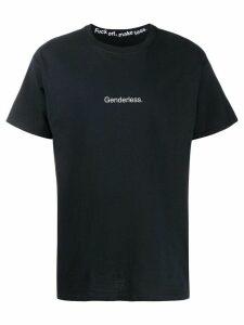 F.A.M.T. 'Genderless' print T-shirt - Black