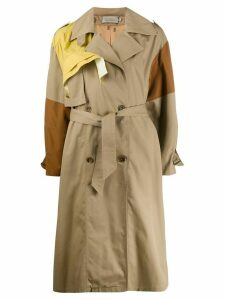 Preen By Thornton Bregazzi double-breasted trench coat - Brown
