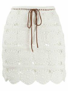 Miu Miu crochet knit skirt - White