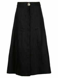 Nicholas button up skirt - Black