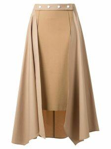 Nehera panelled midi skirt - Brown