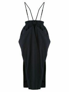 Goen.J multi-way draped wide skirt - Blue