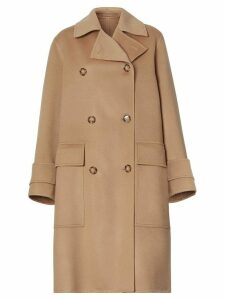 Burberry cashmere double-faced coat - NEUTRALS