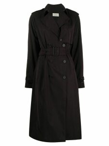 The Row double-breasted coat - Black