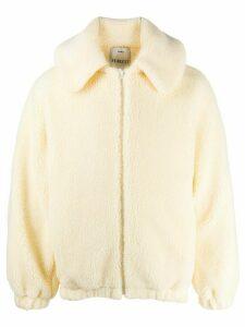 Fiorucci shearling hooded coat - White