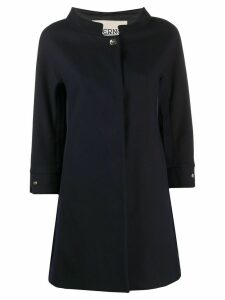 Herno funnel-neck A-line coat - Blue