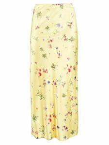 Andamane floral midi skirt - Yellow