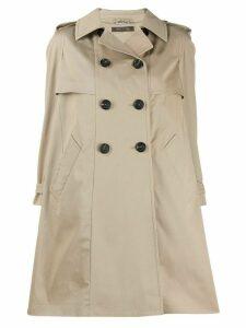 Miu Miu double-breasted trench coat - NEUTRALS